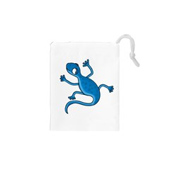 Blue lizard Drawstring Pouches (XS)