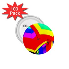 Umbrella Color Red Yellow Green Blue Purple 1.75  Buttons (100 pack)
