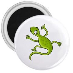 Green lizard 3  Magnets
