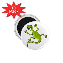 Green lizard 1.75  Magnets (10 pack)