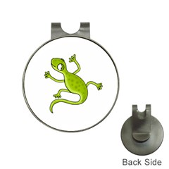 Green lizard Hat Clips with Golf Markers