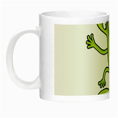 Green lizard Night Luminous Mugs