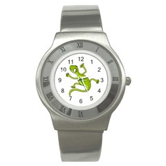 Green lizard Stainless Steel Watch
