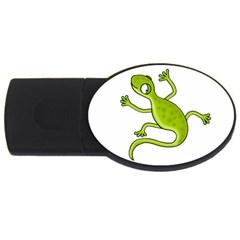 Green lizard USB Flash Drive Oval (4 GB)