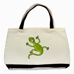 Green lizard Basic Tote Bag