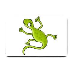 Green lizard Small Doormat