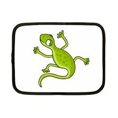 Green lizard Netbook Case (Small)