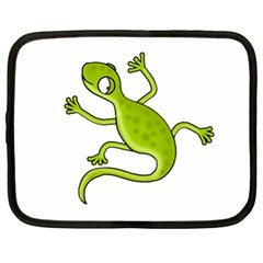 Green lizard Netbook Case (XL)