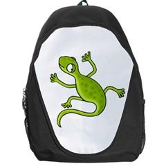 Green lizard Backpack Bag