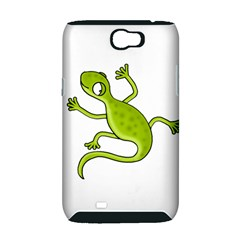 Green lizard Samsung Galaxy Note 2 Hardshell Case (PC+Silicone)