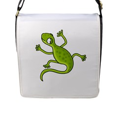 Green Lizard Flap Messenger Bag (l)