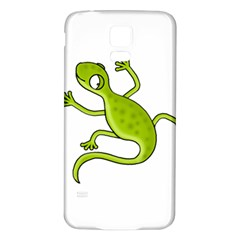 Green lizard Samsung Galaxy S5 Back Case (White)