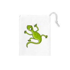 Green lizard Drawstring Pouches (Small)