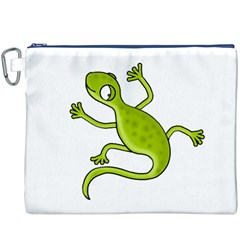 Green lizard Canvas Cosmetic Bag (XXXL)