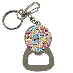 Weird Faces Pattern Bottle Opener Key Chains
