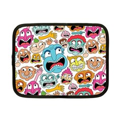Weird Faces Pattern Netbook Case (Small)