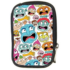 Weird Faces Pattern Compact Camera Cases