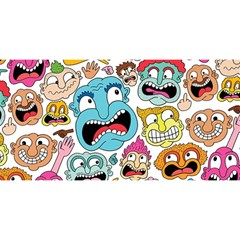 Weird Faces Pattern YOU ARE INVITED 3D Greeting Card (8x4)