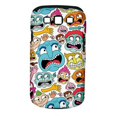 Weird Faces Pattern Samsung Galaxy S III Classic Hardshell Case (PC+Silicone)