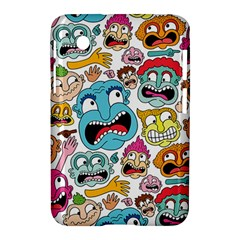 Weird Faces Pattern Samsung Galaxy Tab 2 (7 ) P3100 Hardshell Case