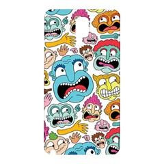 Weird Faces Pattern Samsung Galaxy Note 3 N9005 Hardshell Back Case