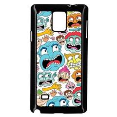 Weird Faces Pattern Samsung Galaxy Note 4 Case (Black)