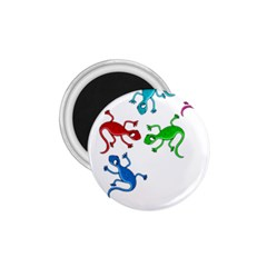 Colorful lizards 1.75  Magnets