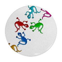 Colorful lizards Ornament (Round)