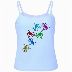 Colorful lizards Baby Blue Spaghetti Tank