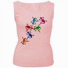 Colorful lizards Women s Pink Tank Top