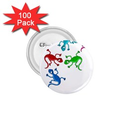 Colorful lizards 1.75  Buttons (100 pack)