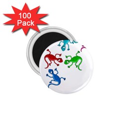 Colorful lizards 1.75  Magnets (100 pack)