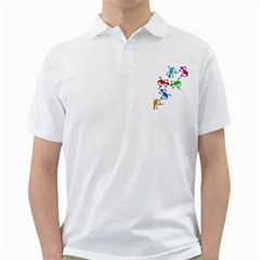 Colorful lizards Golf Shirts