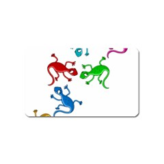 Colorful lizards Magnet (Name Card)