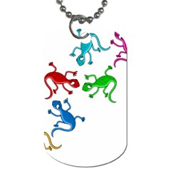 Colorful lizards Dog Tag (Two Sides)