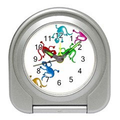 Colorful lizards Travel Alarm Clocks
