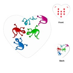 Colorful lizards Playing Cards (Heart)