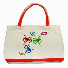 Colorful lizards Classic Tote Bag (Red)