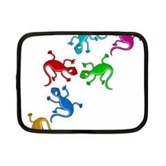 Colorful lizards Netbook Case (Small)