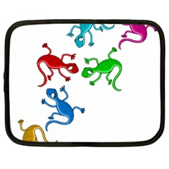 Colorful lizards Netbook Case (Large)