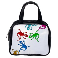 Colorful lizards Classic Handbags (One Side)