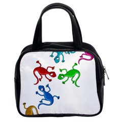 Colorful lizards Classic Handbags (2 Sides)