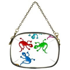 Colorful lizards Chain Purses (One Side)