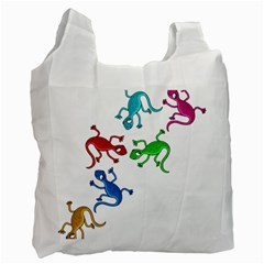Colorful Lizards Recycle Bag (two Side)