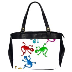 Colorful lizards Office Handbags (2 Sides)