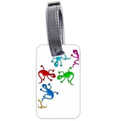 Colorful lizards Luggage Tags (One Side)