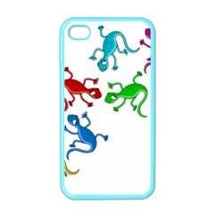 Colorful lizards Apple iPhone 4 Case (Color)