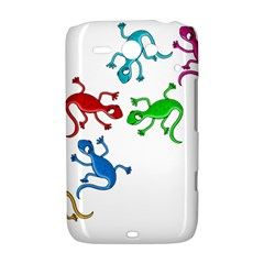 Colorful lizards HTC ChaCha / HTC Status Hardshell Case