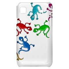 Colorful lizards Samsung Galaxy S i9000 Hardshell Case