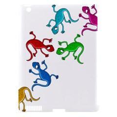 Colorful lizards Apple iPad 3/4 Hardshell Case (Compatible with Smart Cover)